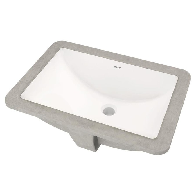 American Standard White Undermount Rectangular Bathroom ...