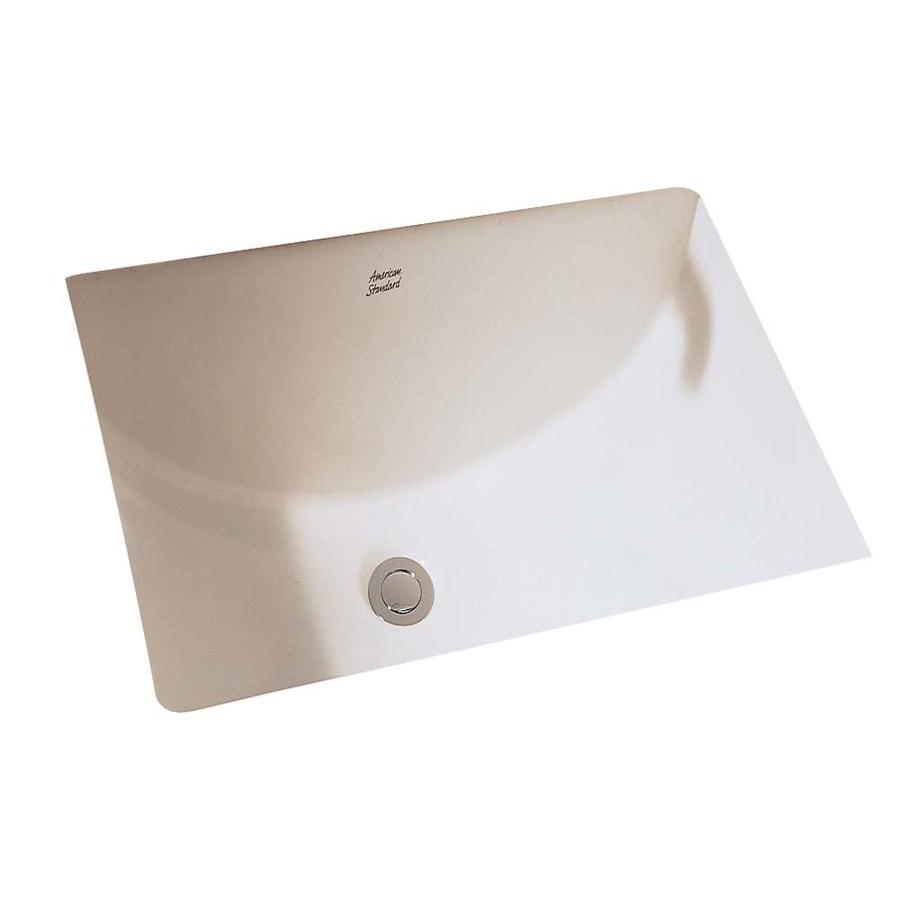 American Standard Bone Undermount Rectangular Bathroom Sink with Overflow