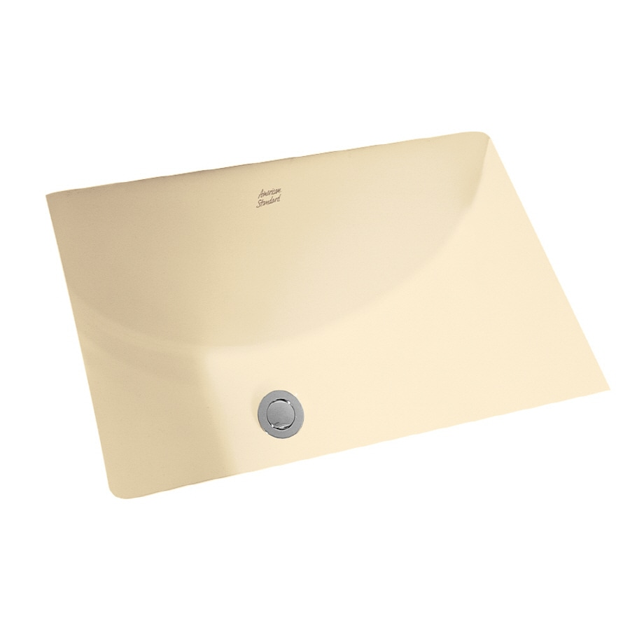 American Standard Bone Undermount Rectangular Bathroom Sink with Overflow