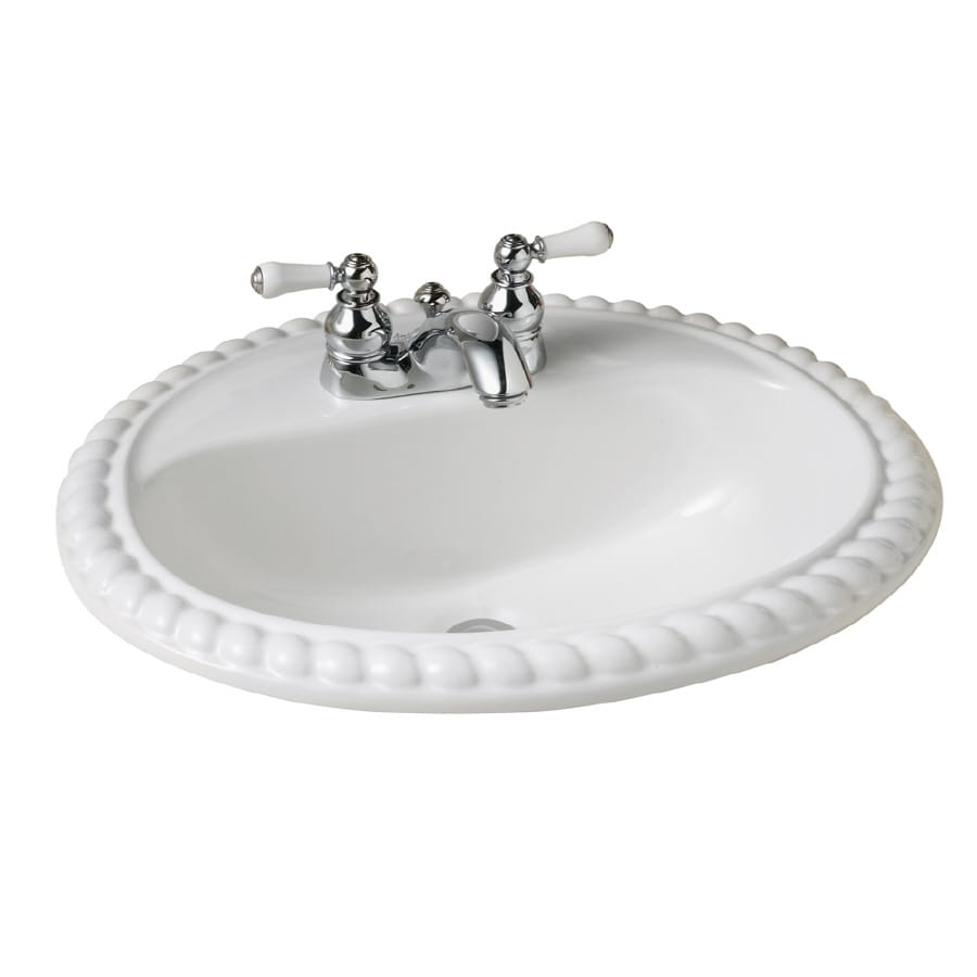 American Standard Rope Twist White Bath Sink