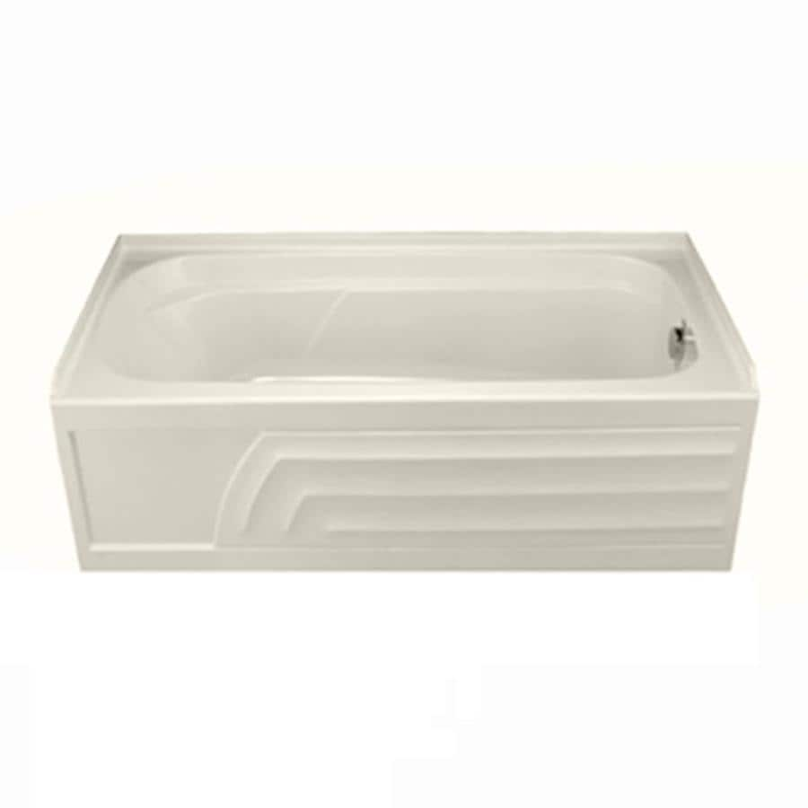 shop american standard colony 66 in linen acrylic alcove bathtub with right hand drain at. Black Bedroom Furniture Sets. Home Design Ideas