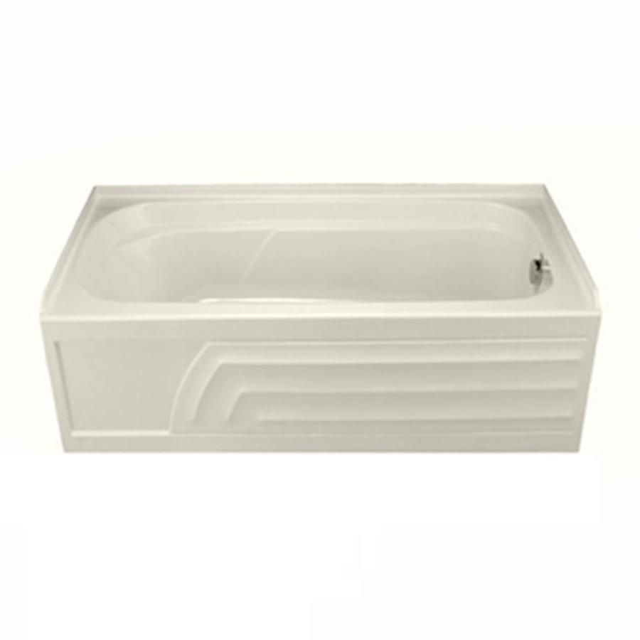 American Standard Colony 66-in Linen Acrylic Skirted Bathtub with Right-Hand Drain