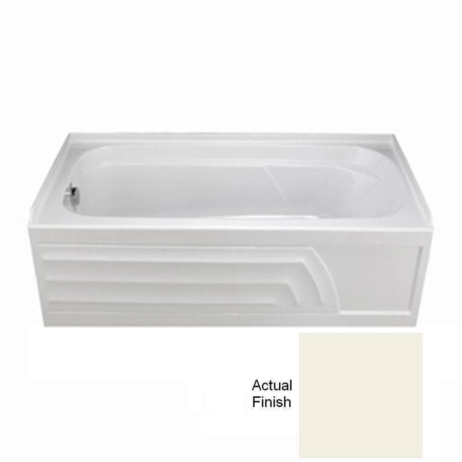 American Standard Colony 66-in Linen Acrylic Alcove Bathtub with Left-Hand Drain