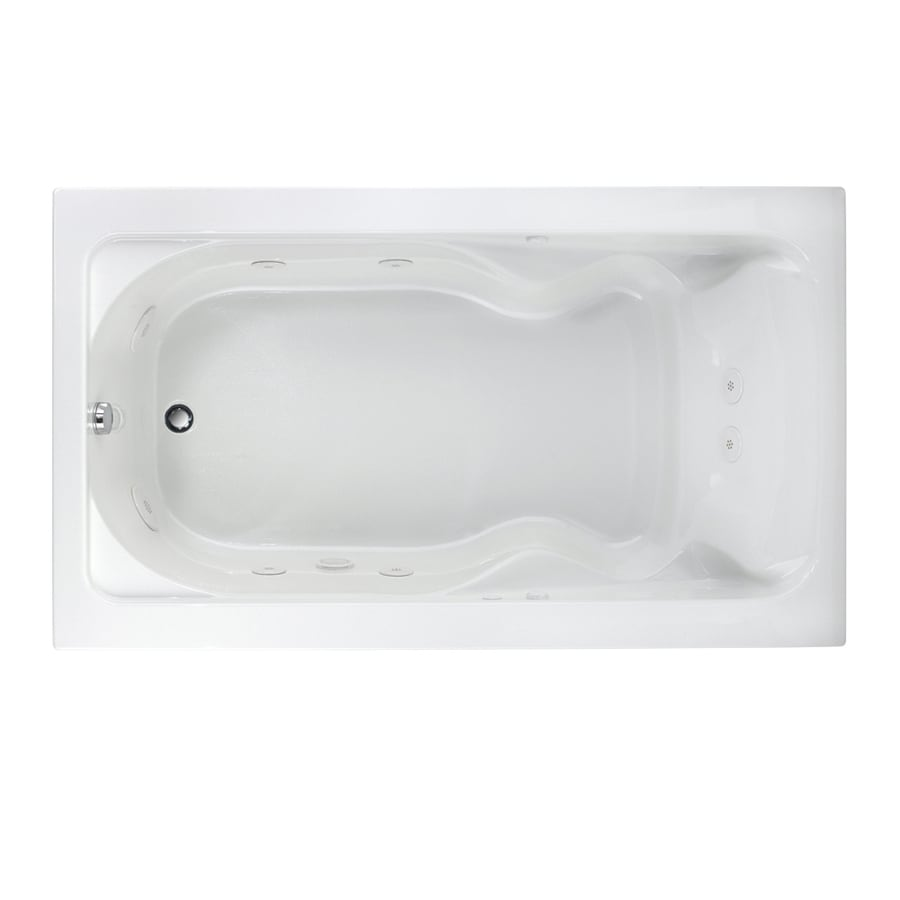 american standard cadet 72in white acrylic dropin whirlpool tub with reversible drain