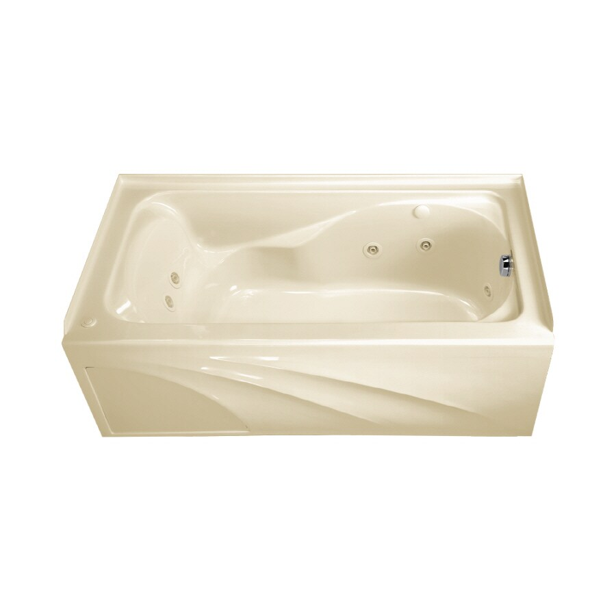 American Standard Cadet Linen Acrylic Rectangular Whirlpool Tub (Common: 32-in x 60-in; Actual: 20-in x 32-in x 59.88-in)