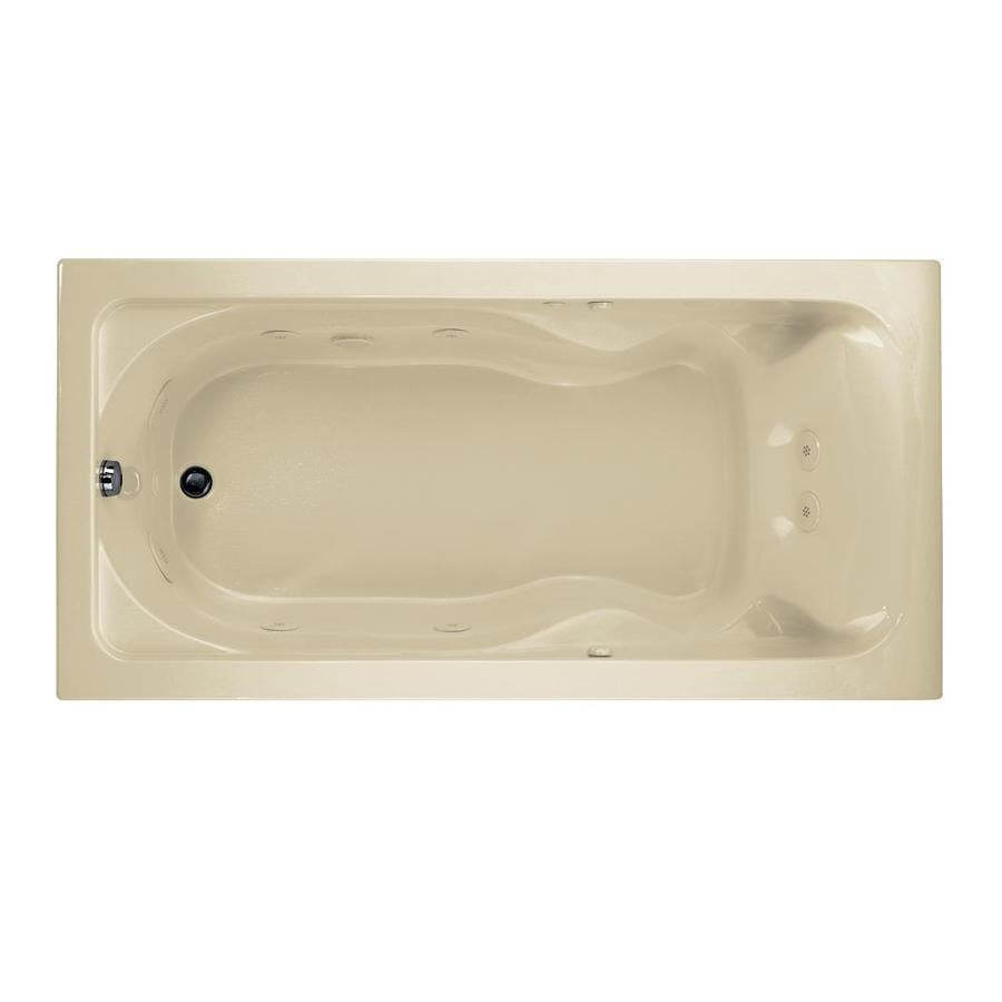 American Standard Cadet Linen Acrylic Rectangular Whirlpool Tub (Common: 35-in x 72-in; Actual: 19.75-in x 35.75-in x 72-in)