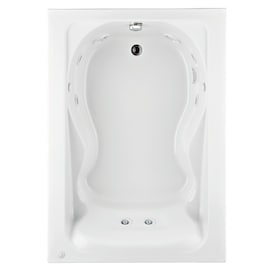 Jacuzzi Nova 42 In W X 60 In L White Acrylic Rectangular Left Drain Drop In Whirlpool Tub In The Bathtubs Department At Lowes Com