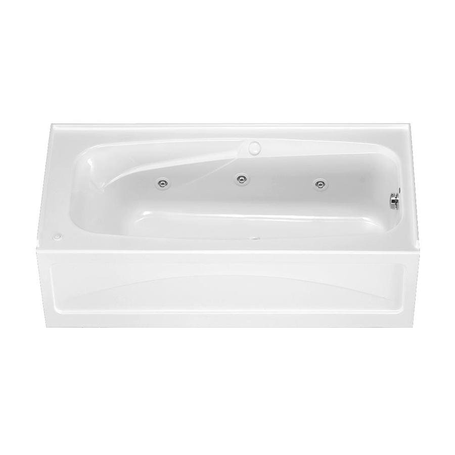 American Standard Colony 66-in White Acrylic Skirted Whirlpool Tub with Right-Hand Drain