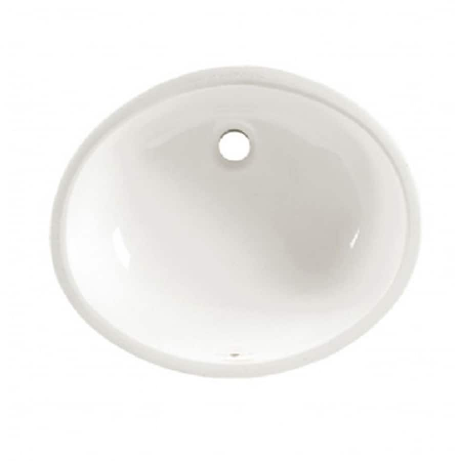 American Standard Ovalyn White Undermount Oval Bathroom Sink with Overflow
