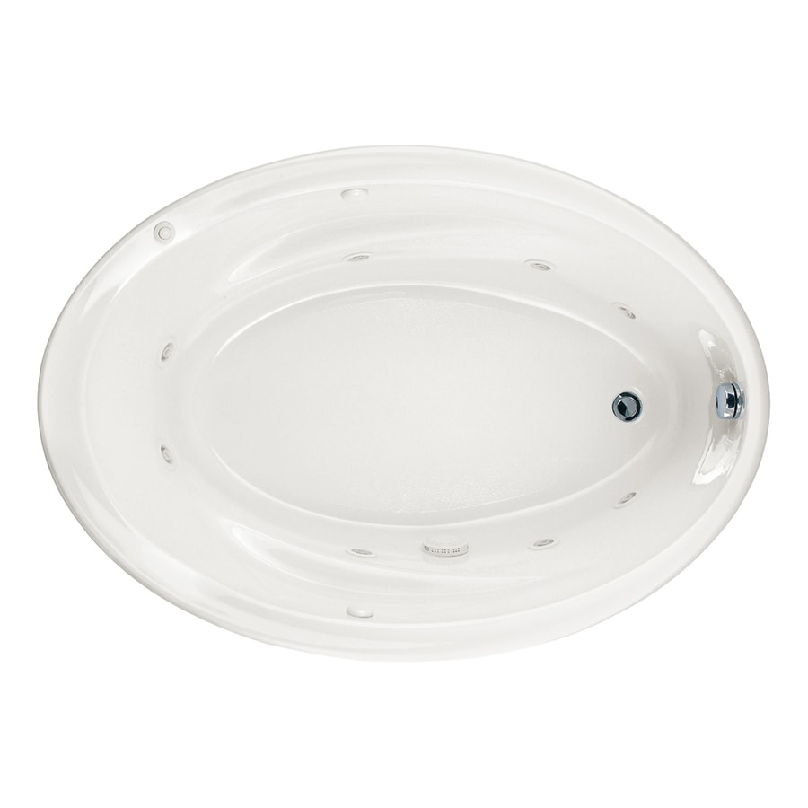 American Standard Savona 2-Person White Acrylic Oval Whirlpool Tub (Common: 42-in x 60-in; Actual: 21.25-in x 42.25-in x 60-in)