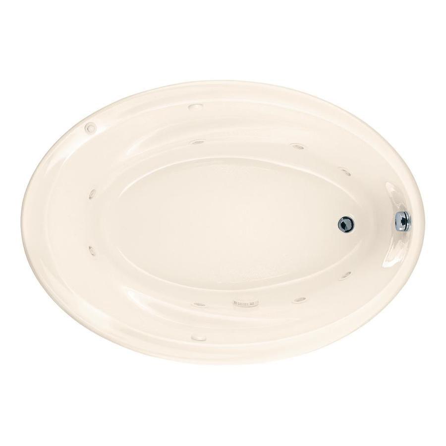 American Standard Savona Linen Acrylic Oval Whirlpool Tub (Common: 42-in x 60-in; Actual: 21.25-in x 42.25-in x 60-in)