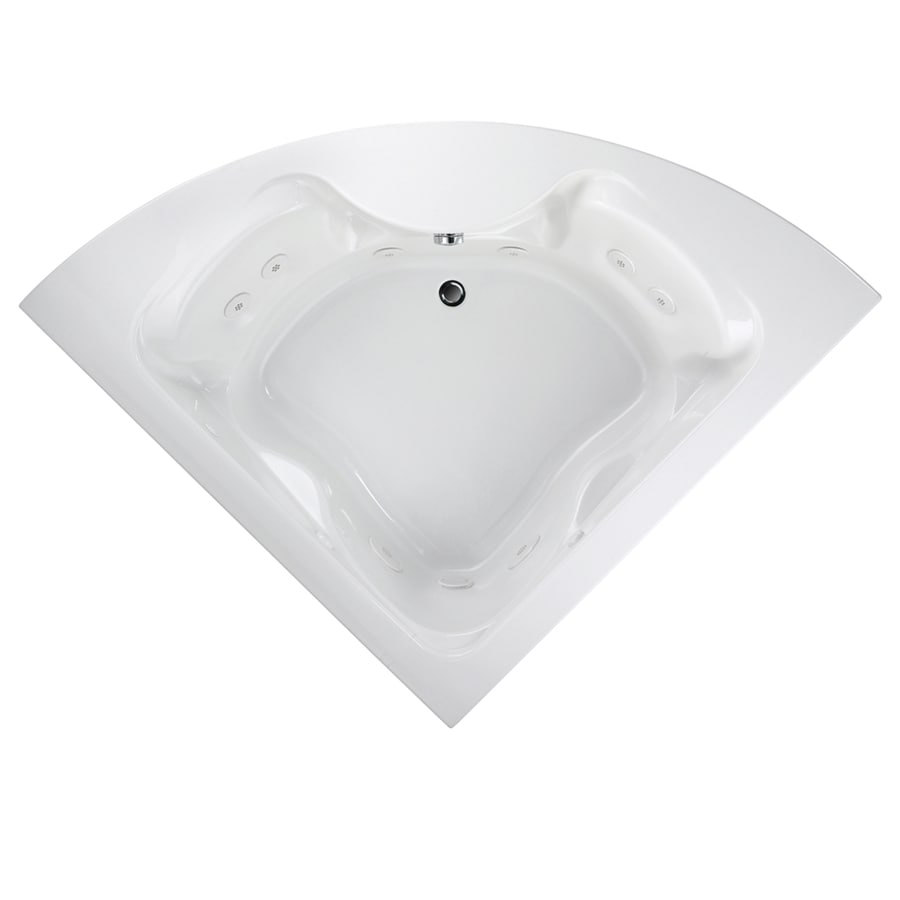 American Standard Cadet 60-in White Acrylic Drop-In Whirlpool Tub with Front Center Drain
