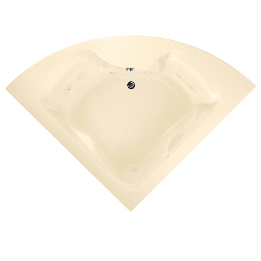 American Standard Cadet 2-Person Bone Acrylic Corner Whirlpool Tub (Common: 60-in x 60-in; Actual: 19.75-in x 60-in x 60-in)