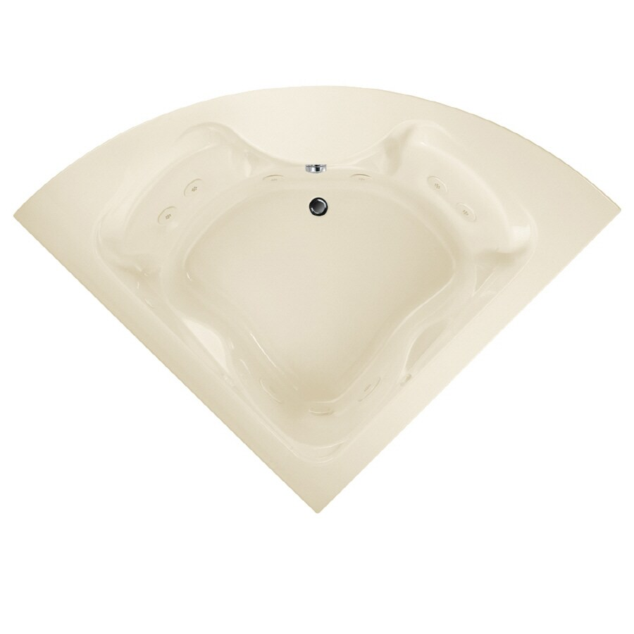 American Standard Cadet 2-Person Linen Acrylic Corner Whirlpool Tub (Common: 60-in x 60-in; Actual: 19.75-in x 60-in x 60-in)