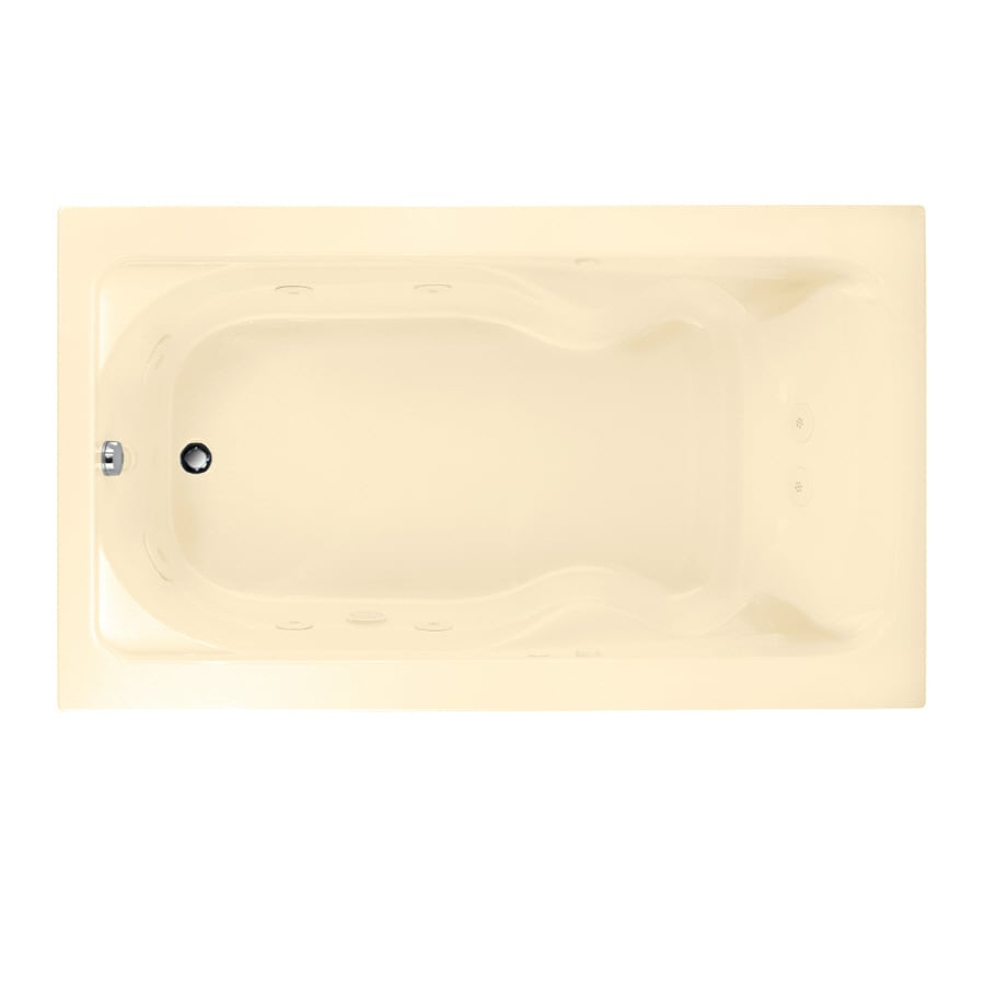 American Standard Cadet Bone Acrylic Rectangular Whirlpool Tub (Common: 42-in x 72-in; Actual: 19.75-in x 42-in x 72-in)