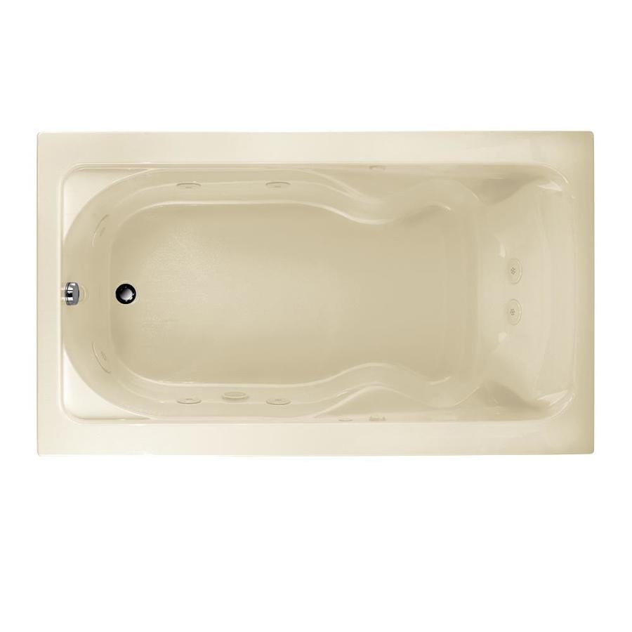 American Standard Cadet 72-in Linen Acrylic Drop-In Whirlpool Tub with Reversible Drain