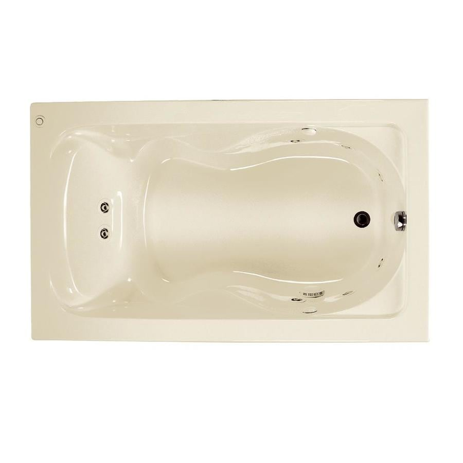 American Standard Cadet 60-in Linen Acrylic Drop-In Whirlpool Tub with Reversible Drain