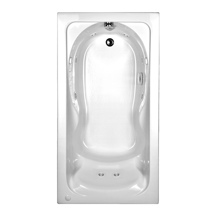American Standard Cadet White Acrylic Rectangular Whirlpool Tub (Common: 31-in x 60-in; Actual: 19.75-in x 31.75-in x 59.88-in)