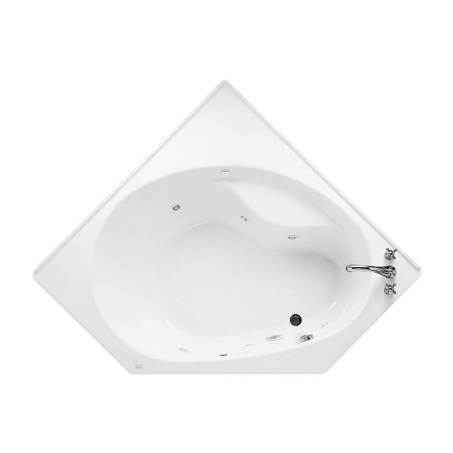 Shop American Standard Scala 2-Person White Acrylic Corner Whirlpool ...