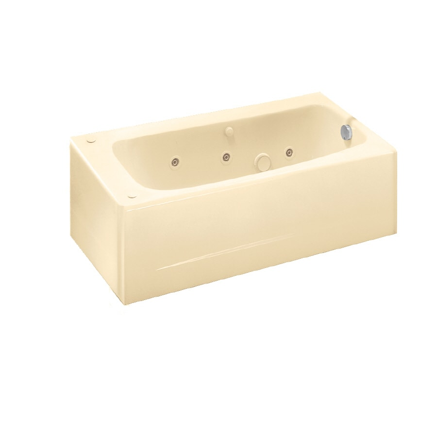 American Standard Cambridge Bone Acrylic Oval In Rectangle Whirlpool Tub (Common: 32-in x 60-in; Actual: 17-in x 32-in x 60-in)