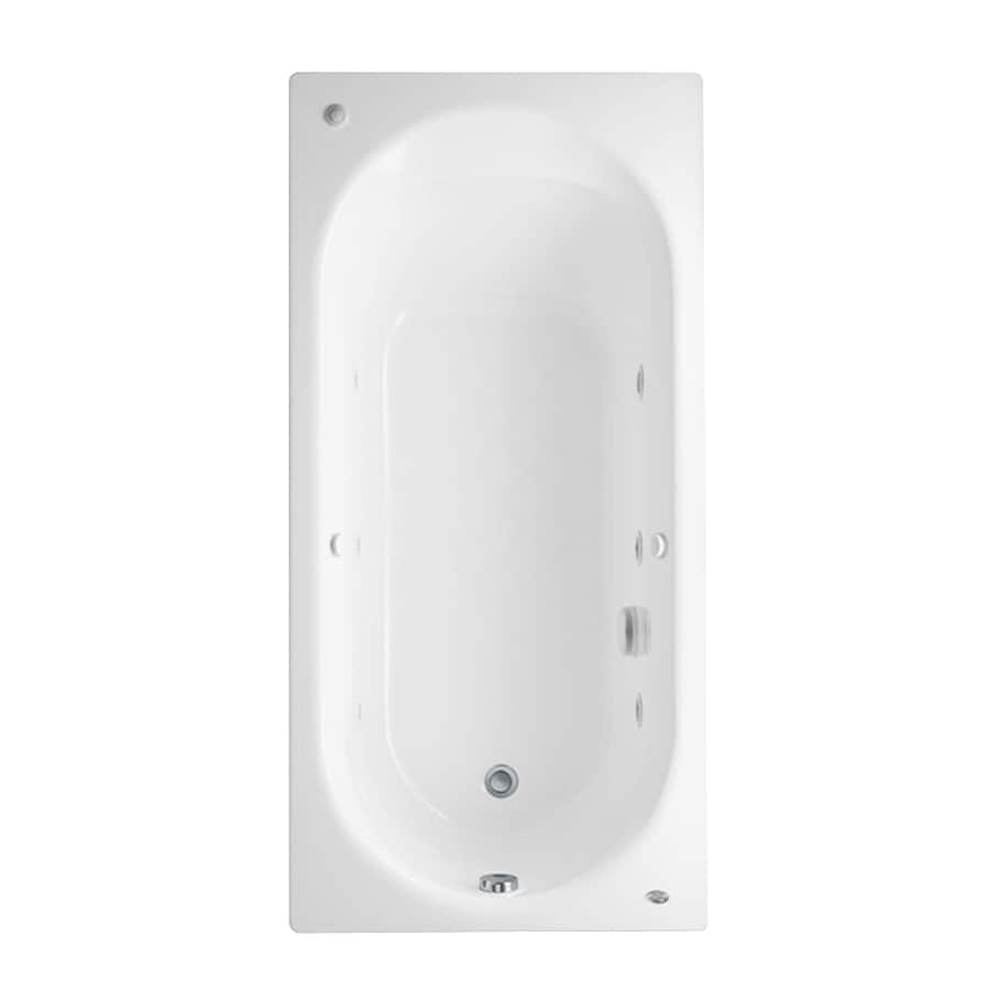 American Standard Stratford White Acrylic Oval In Rectangle Whirlpool Tub (Common: 32-in x 66-in; Actual: 20-in x 32-in x 66-in)