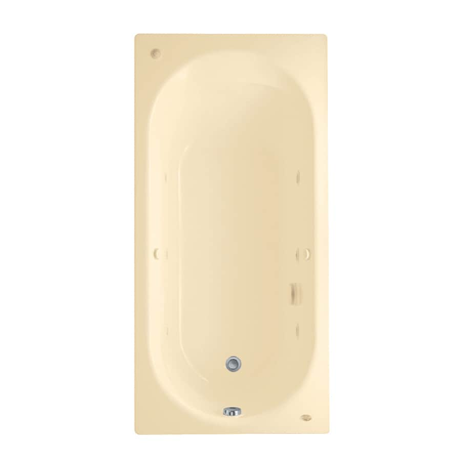 American Standard Stratford 66-in Bone Acrylic Drop-In Whirlpool Tub with Reversible Drain