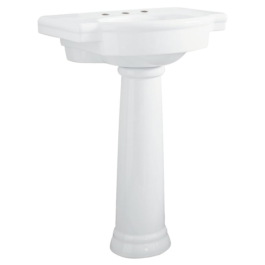 Bathroom Sink Mirror : ... Standard Retrospect 36-in H White Fire Clay Pedestal Sink at Lowes.com