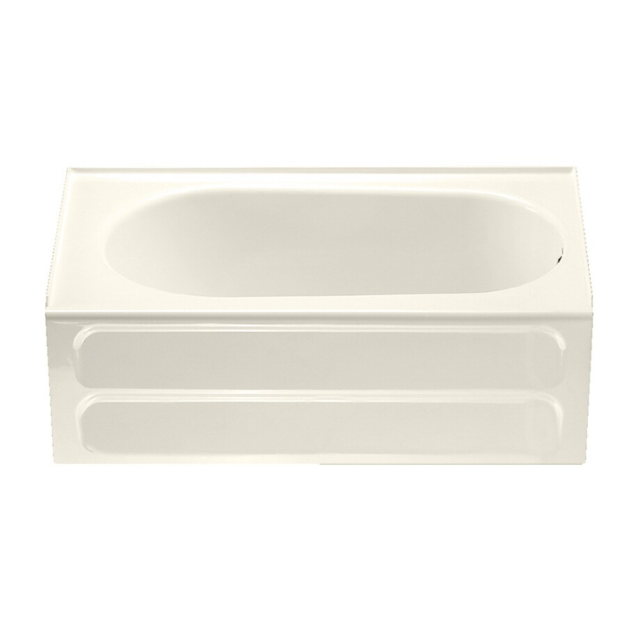 American Standard Standard Linen Acrylic Rectangular Skirted Bathtub with Right-Hand Drain (Common: 32-in x 60-in; Actual: 19.75-in x 32-in x 60-in