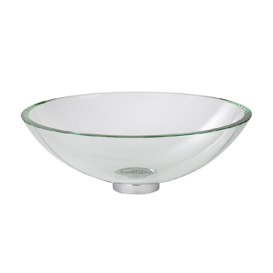 American Standard Clear Glass Vessel Round Bathroom Sink (Drain Included)