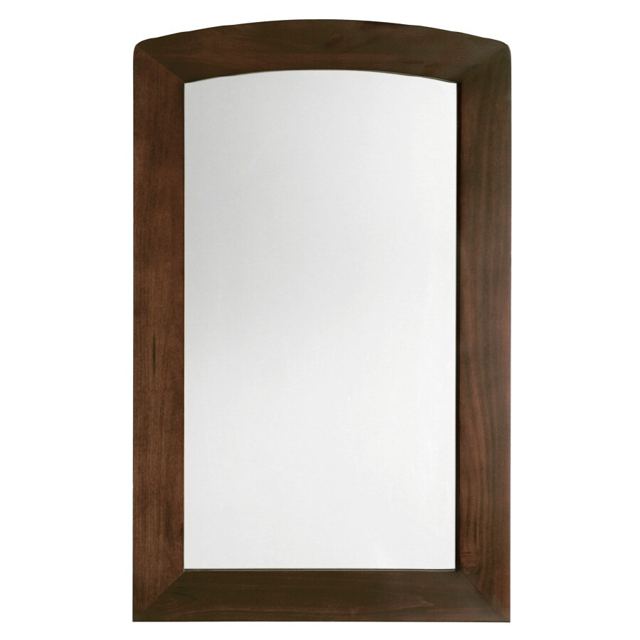 American Standard 35-1/2-in H x 22-in W Jefferson Autumn Cherry Rectangular Bathroom Mirror