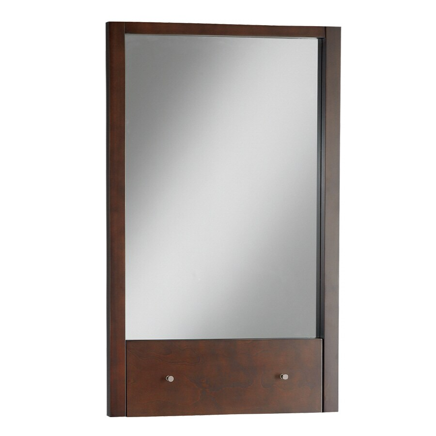American Standard 36-in H x 22-in W Cascada Tobacco Rectangular Bathroom Mirror
