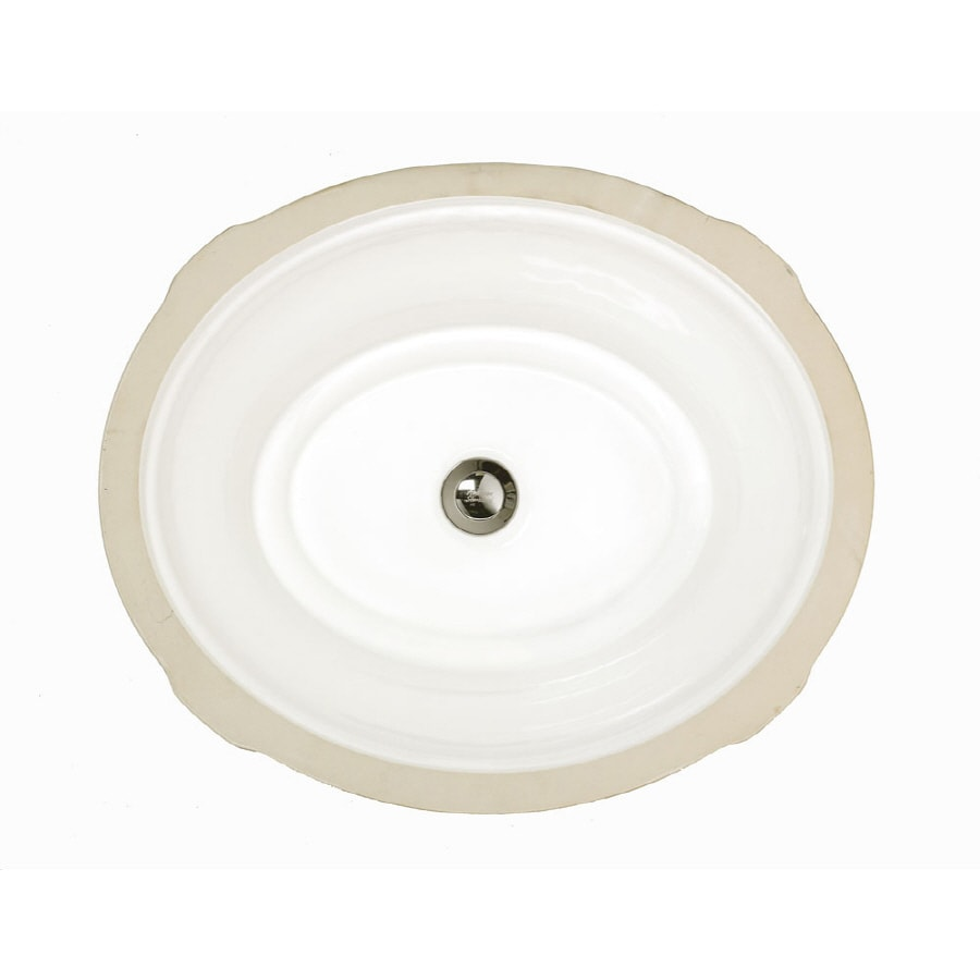Shop American Standard Tudor White Undermount Oval Bathroom Sink With Overflow At