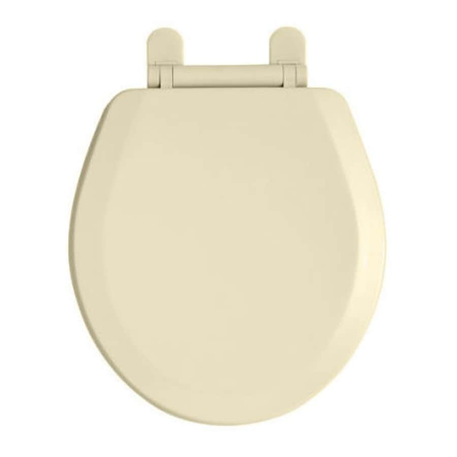 American Standard Toilet Seats >> Shop American Standard EverClean Bone Plastic Round Toilet Seat at Lowes.com