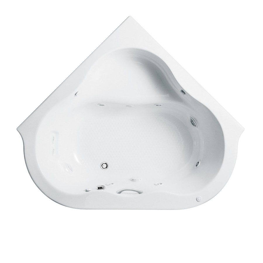 American Standard Evolution 76.75-in White Acrylic Drop-In Whirlpool Tub with Left-Hand Drain