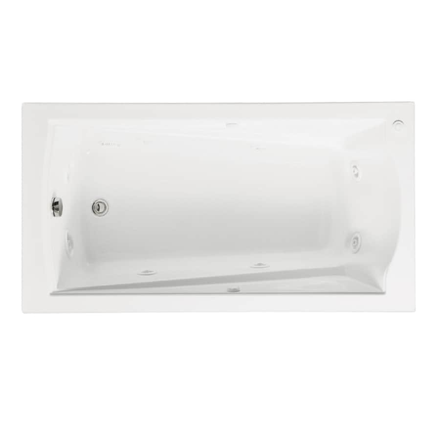 American Standard Evolution 60-in White Acrylic Alcove Whirlpool Tub with Right-Hand Drain