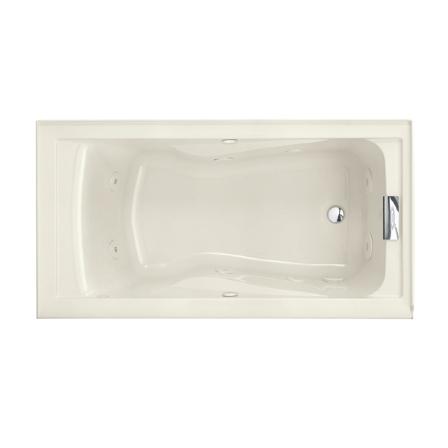American Standard Evolution 60-in Linen Acrylic Skirted Whirlpool Tub with Right-Hand Drain