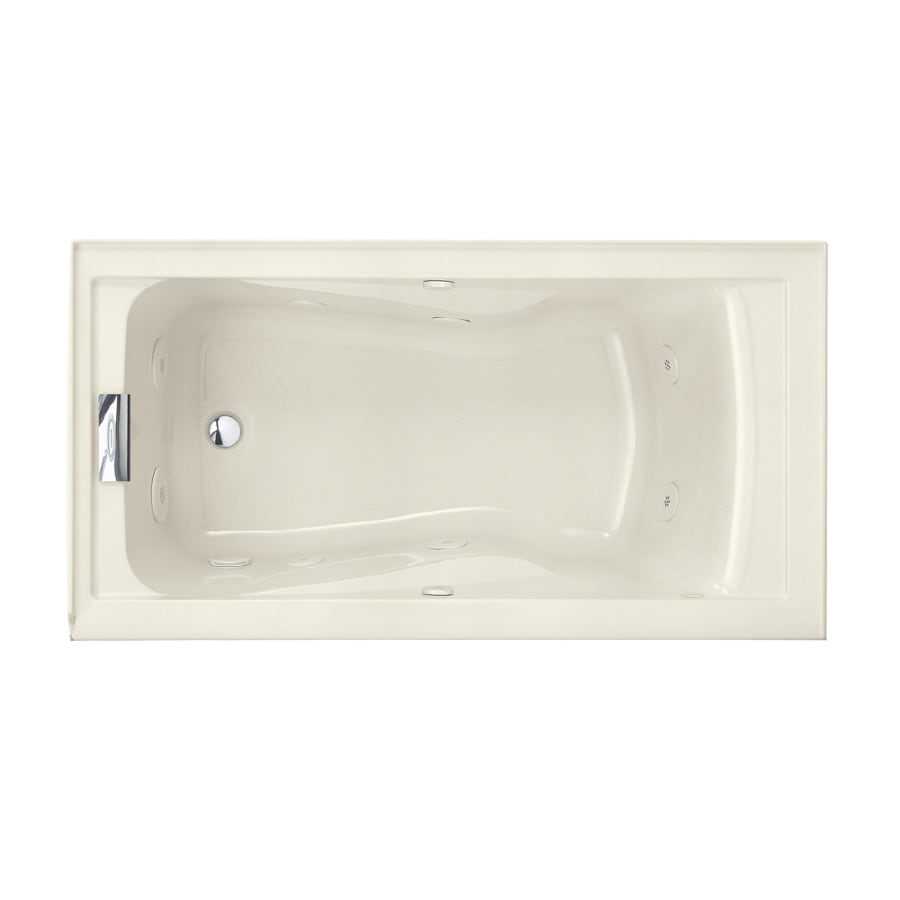 American Standard Evolution Linen Acrylic Hourglass In Rectangle Whirlpool Tub (Common: 32-in x 60-in; Actual: 21.5-in x 32-in x 60-in)