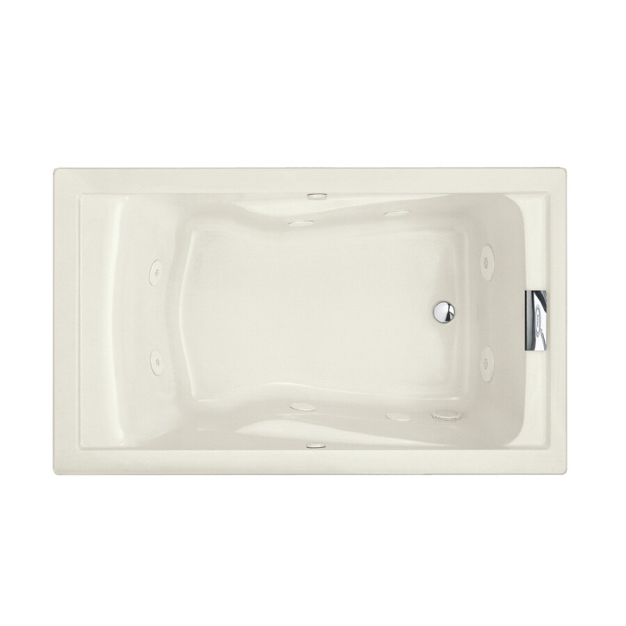 American Standard Evolution Linen Acrylic Rectangular Whirlpool Tub (Common: 36-in x 60-in; Actual: 21.5-in x 36-in x 60-in)