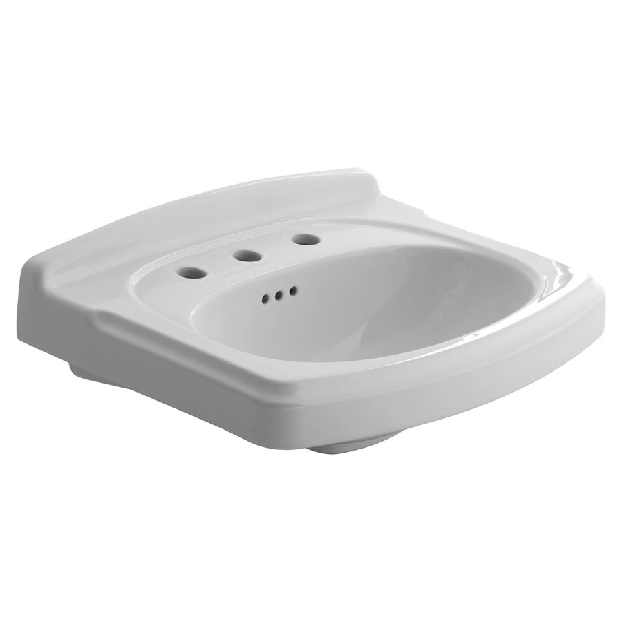 American Standard Portsmouth 19.5-in L x 24.4-in W White Vitreous China Rectangular Pedestal Sink Top