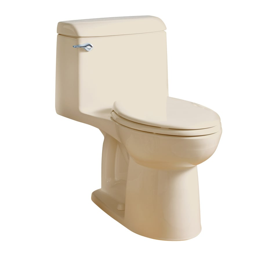 American Standard Champion Bone  Elongated Standard Height 1-piece Toilet 12-in Rough-In Size