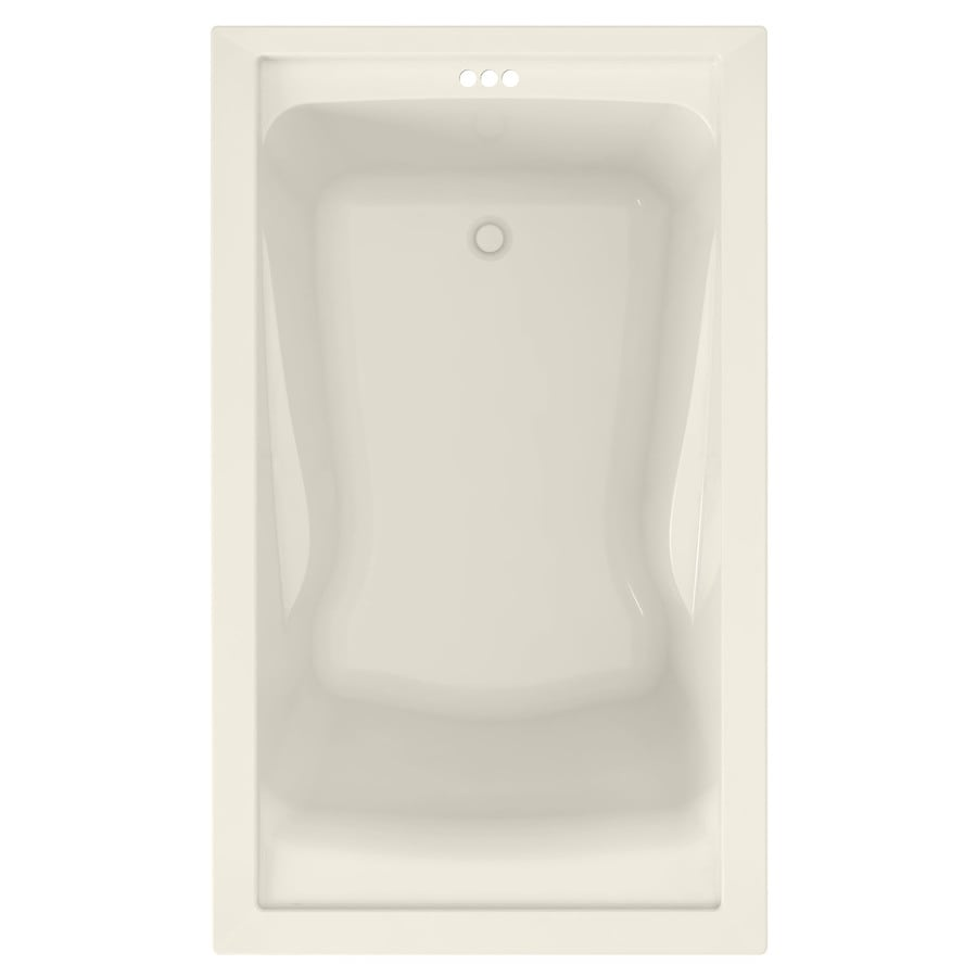 American Standard Evolution 60-in Linen Acrylic Drop-In Bathtub with Reversible Drain