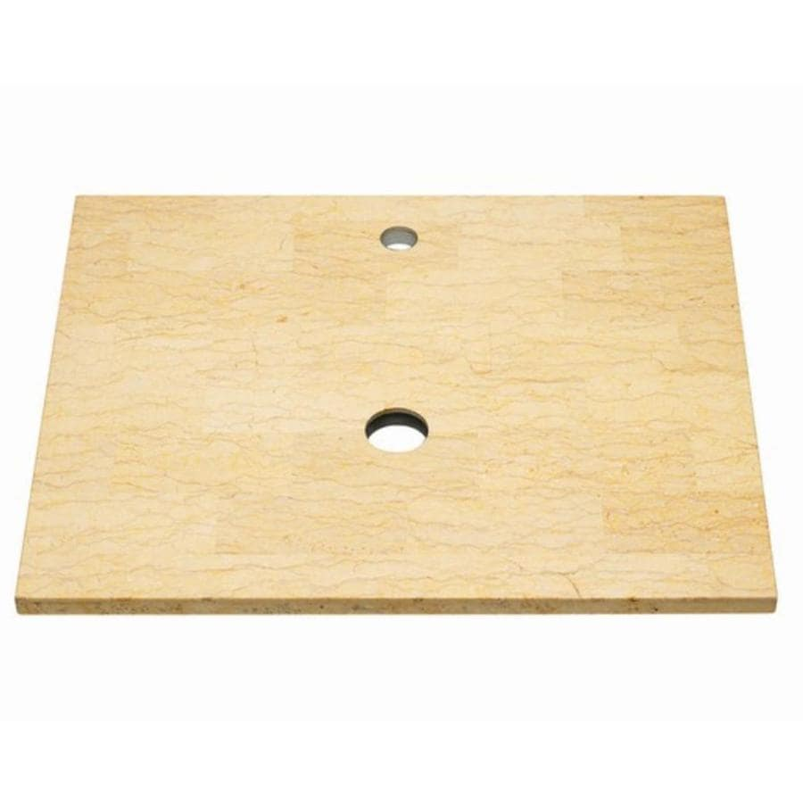 American Standard Studio Cream Natural Marble Undermount Bathroom Vanity  Top (Common: 30 In