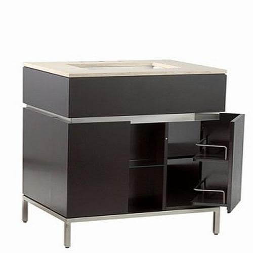American Standard Studio 22 In Espresso Mirror Bathroom Vanity Cabinet At Lowes Com