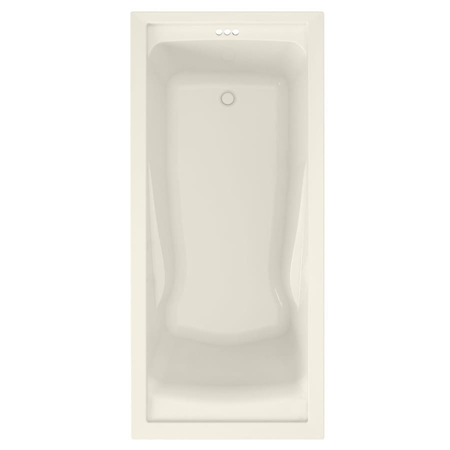 American Standard Evolution Linen Acrylic Rectangular Drop-in Bathtub with Reversible Drain (Common: 32-in x 60-in; Actual: 21.5-in x 32-in x 60-in)