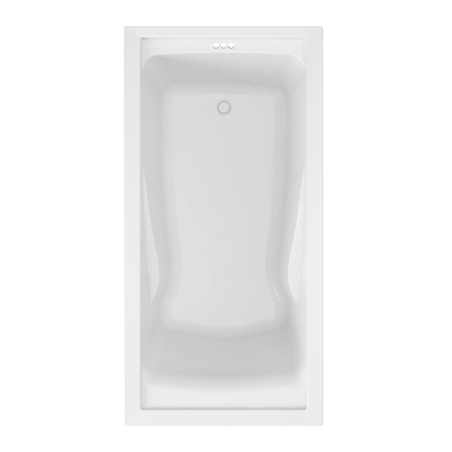 American Standard Evolution Acrylic Rectangular Drop-in Bathtub with Reversible Drain (Common: 36-in x 72-in; Actual: 21.5-in x 36-in x 72-in)