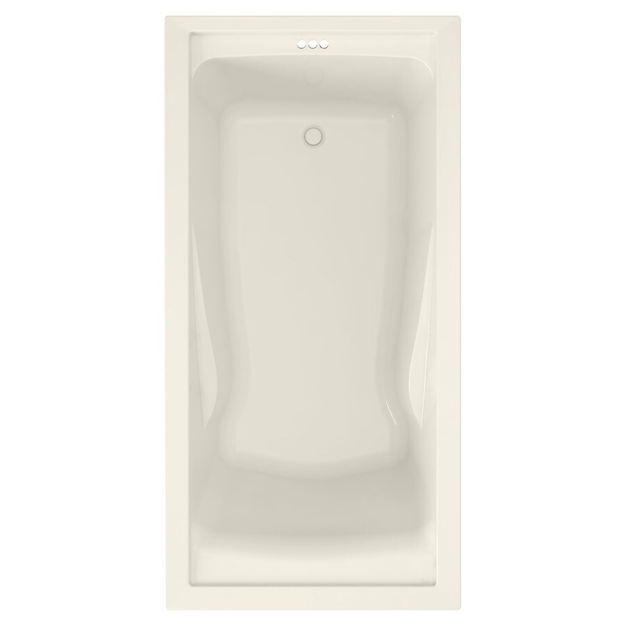 American Standard Evolution 72-in Linen Acrylic Drop-In Bathtub with Reversible Drain