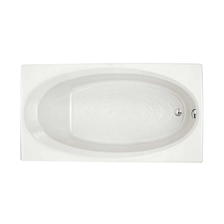 American Standard Evolution White Acrylic Rectangular Drop-in Bathtub with Reversible Drain (Common: 36-in x 66-in; Actual: 19.75-in x 36-in x 66-in