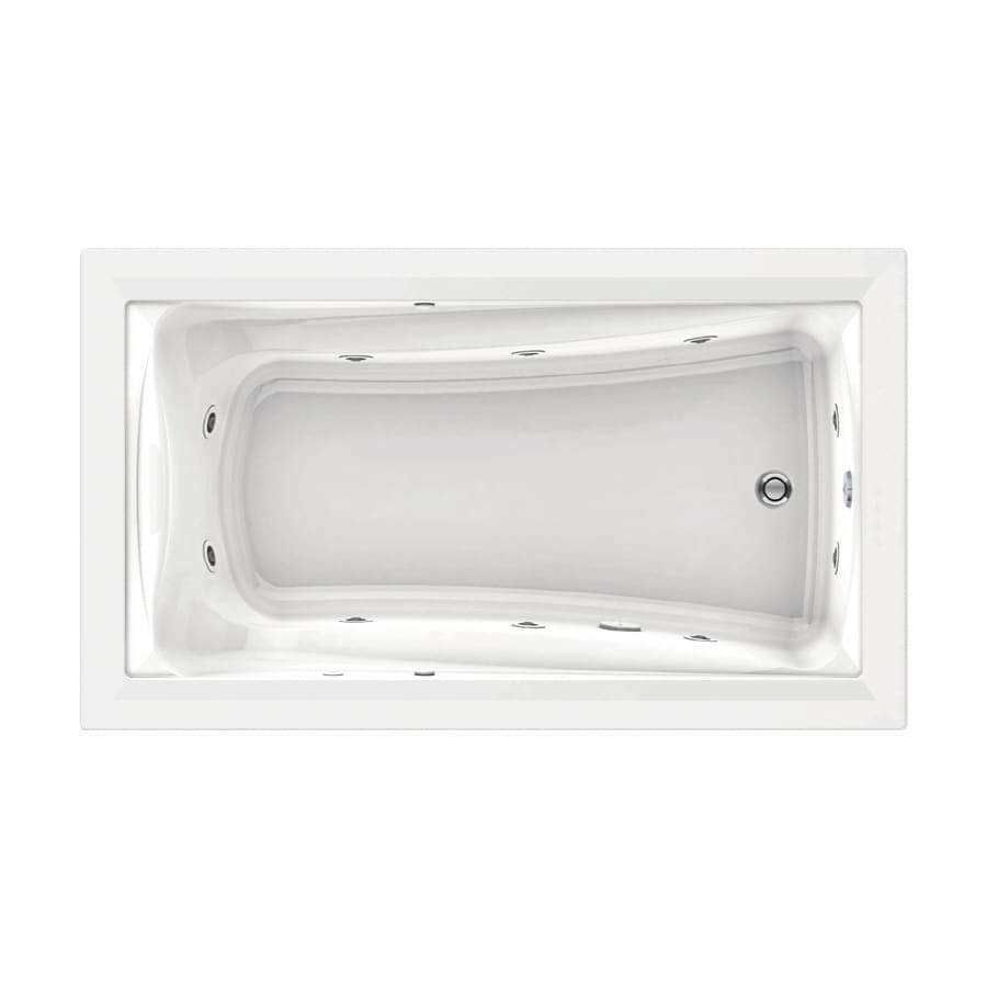 Shop American Standard Green Tea White Acrylic Rectangular Whirlpool ...