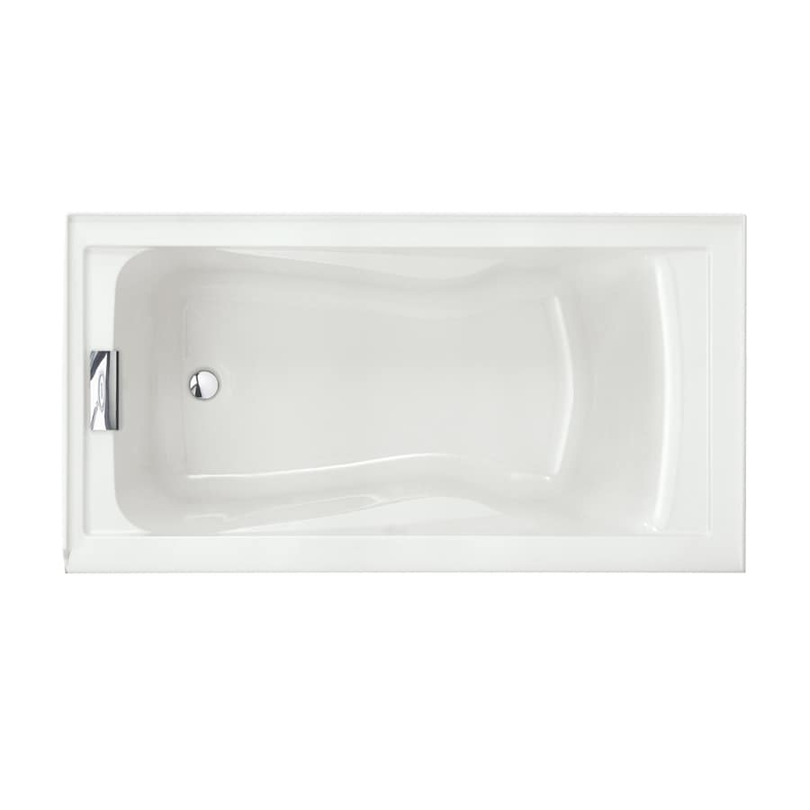Shop American Standard Evolution 60-in White Acrylic Skirted Bathtub ...