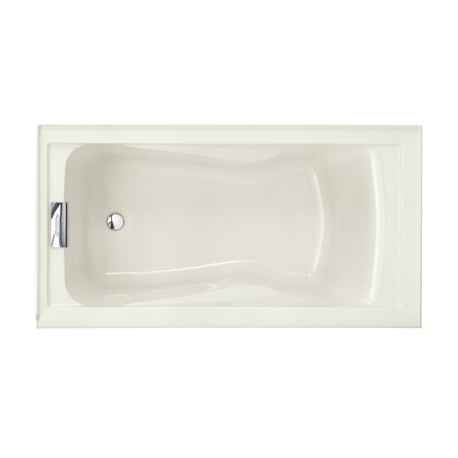 American Standard Evolution 60-in Linen Acrylic Alcove Bathtub with Left-Hand Drain